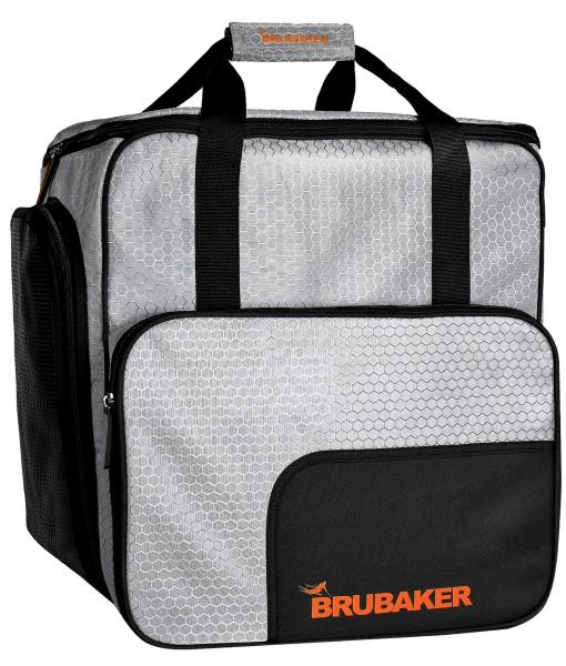 BRUBAKER SuperTec Skischuhtasche Helmtasche Rucksack - Silber Orange