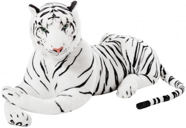 BRUBAKER Tiger weiß 110 cm Stofftier Plüschtier