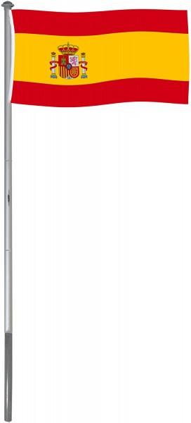 Aluminium Fahnenmast 6 m inklusive Flagge 150 x 90 cm und Bodenhülse