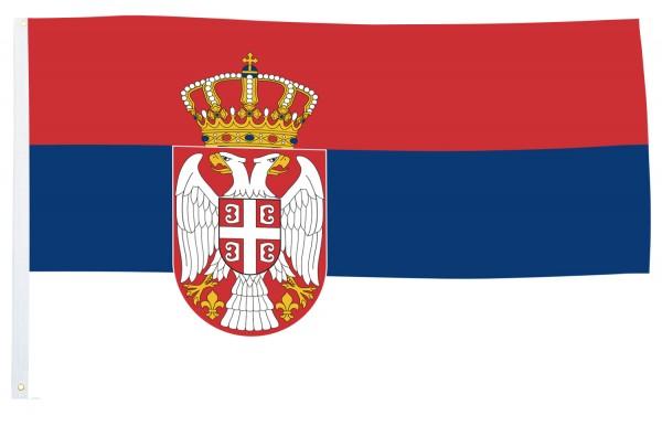 BRUBAKER Hissflagge Serbien Fahne Flagge 150 x 90 cm Banner mit Ösen zum Hissen