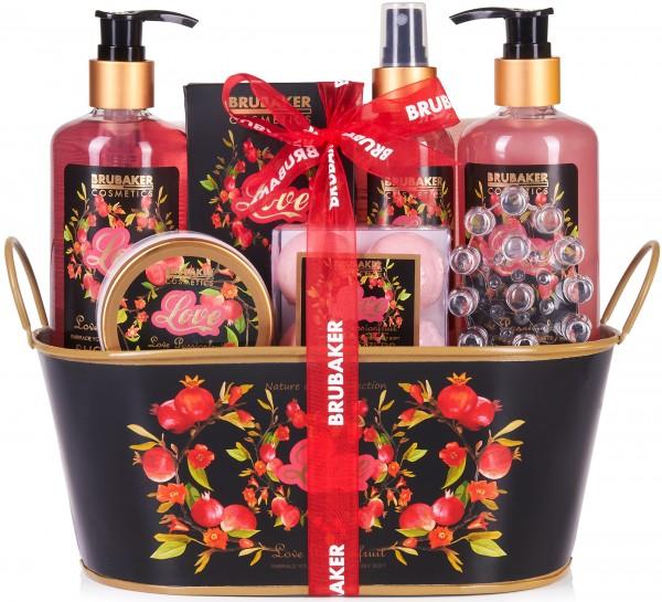 12 tlg. Love Beautyset Geschenkset mit Deko Wanne - Passionsfrucht