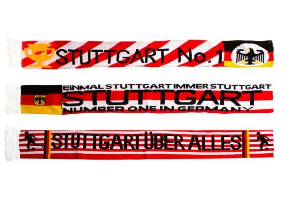 3er Pack Fanschal Stuttgart verschiedene Motive