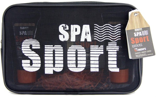 BRUBAKER Cosmetics Spa Sport Musk 5 tlg. Pflege Geschenkset für Männer mit Duschgel, Deo, Body Lotio