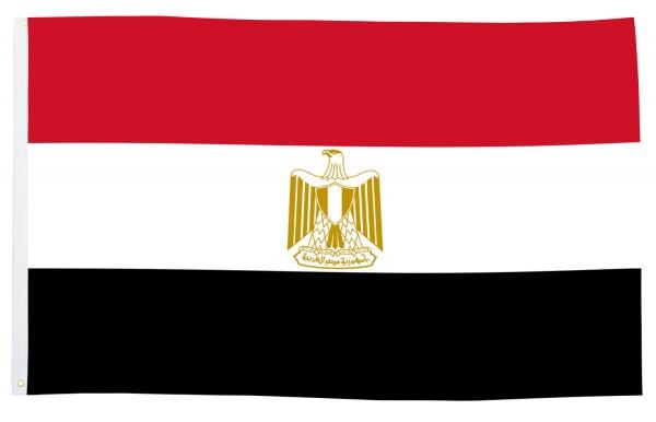 BRUBAKER Hissflagge Ägypten Fahne Flagge 150 x 90 cm Banner mit Ösen zum Hissen