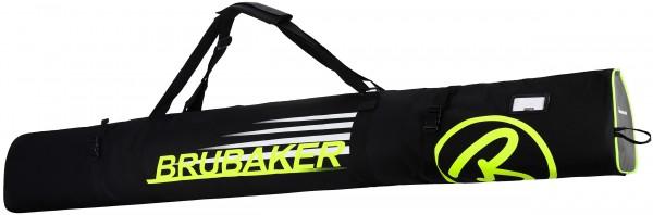 BRUBAKER Carver Champion Skitasche für 1 Paar Ski und Stöcke - Schwarz / Neon Gelb