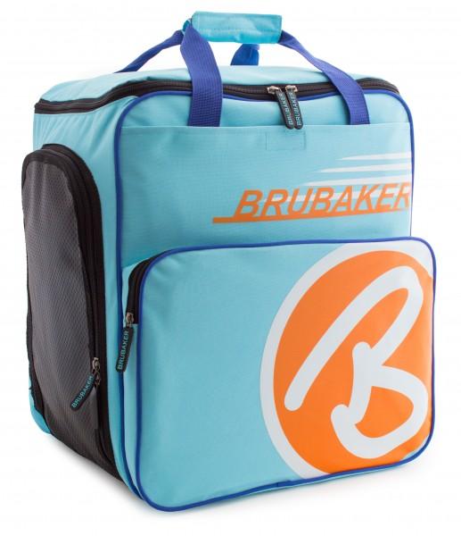 BRUBAKER Skischuhtasche Helmtasche Skischuhrucksack Super Champion Hellblau Orange - Limited Edition