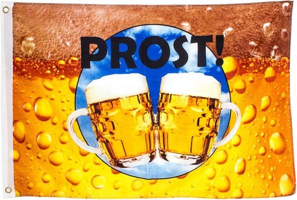 BRUBAKER Hissflagge 'Prost!' Fahne mit Bier-Motiv 60 x 90 cm zum Hissen